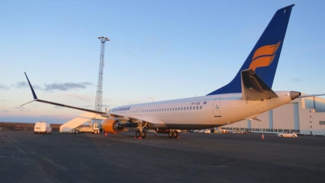 Exterior of Boeing 737 MAX Icelandair