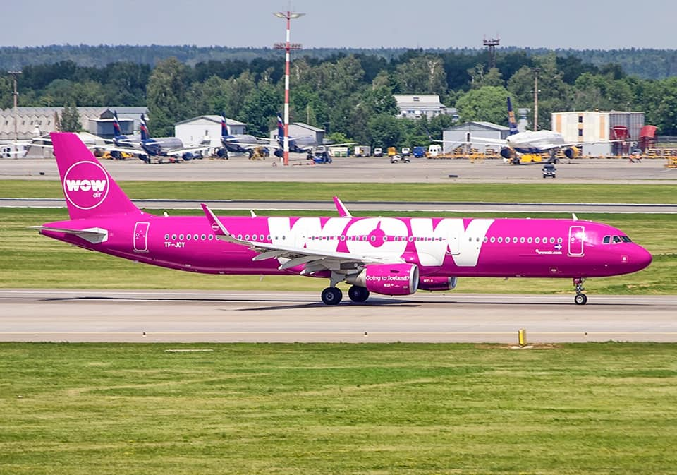 Departure of WOW air Airbus A321 from Sheremetyevo, Moscow during World Cup 2018 on 17.06.18 // Source: Sergey Popkov