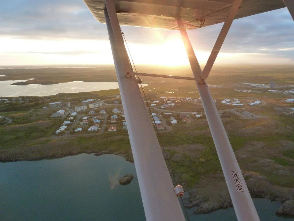 A flight over Reykjavik // Source: Matthías Sveinbjörnsson