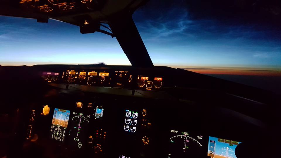 The view from Icelandair Boeing 757 // Source: Matthías Sveinbjörnsson