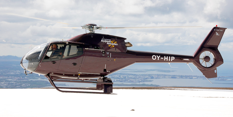 """""""Reykjavik helicopters"""" EC120 Colibri (reg.OY-HIP) // Source: reykjavikhelicopters.com"""