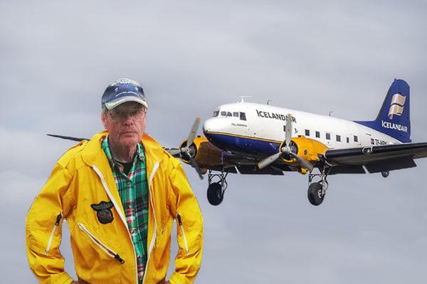 Hallgrimur Jónsson and DC-3 TF-NPK // Source: Flugblogg