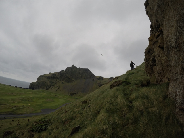 The hilly paths of Vestmannaeyjar