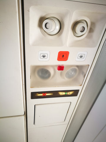 The service signs in Eagle Air Dornier Do328