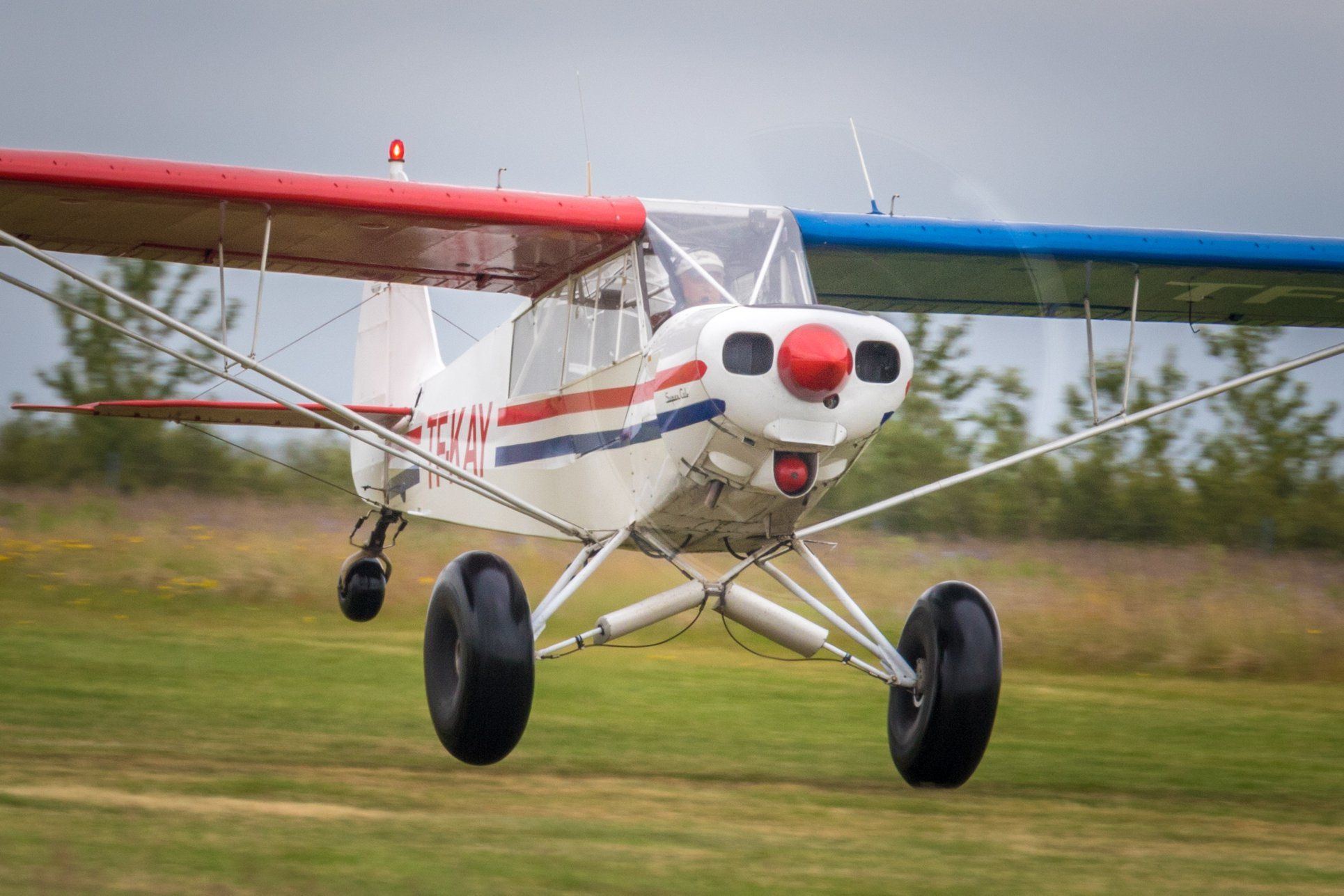 """Piper PA-18-150 TF-KEY during the """"Allt sem flýgur 2019"""" in Hella // Source: Andres Thorarinsson"""