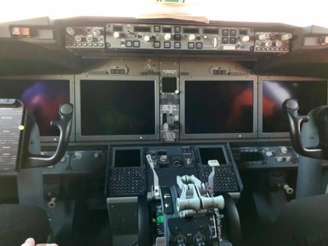 Interior of Boeing 737 MAX Icelandair