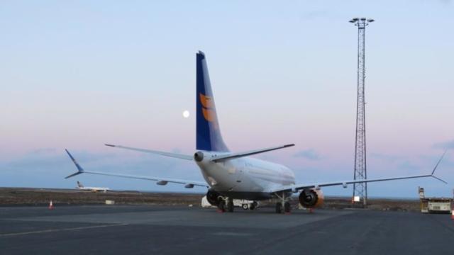 Exterior of Boeing 737 MAX Icelandair