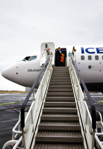 Icelandair Boeing 737 MAX 8 TF-ICE Jökulsárslón in Reykjavik // Source: Alina Daneliia (specially for Flugblogg)