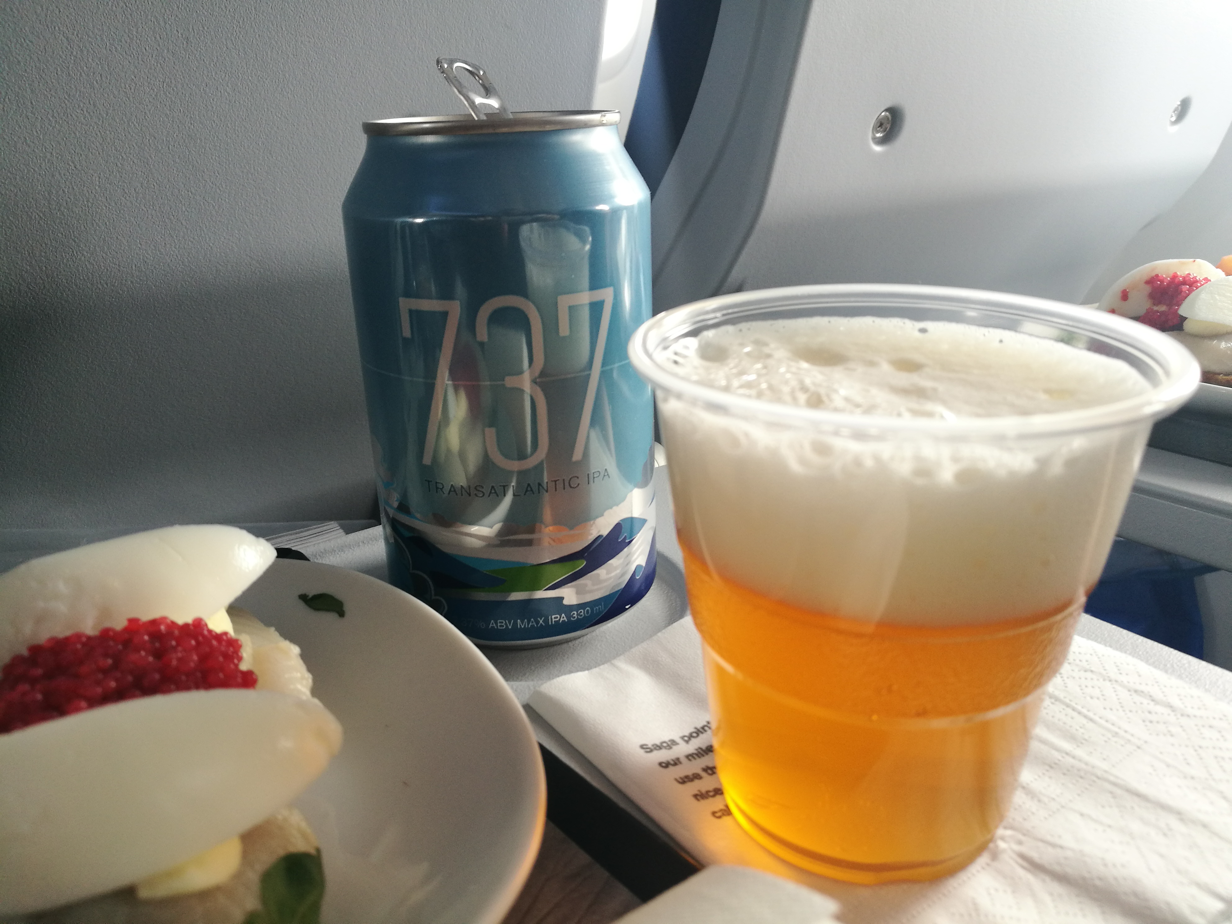 Special brewed IPA beer with 7,37% alc for presenation of Icelandair Boeing 737 MAX 8 TF-ICE Jökulsárslón // Source: Flugblogg
