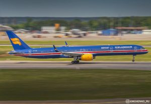 Departure of Icelandair Boeing 753 TF-ISX in Sheremetyevo, Moscow during World Cup 2018 on 17.06.18 // Source: Konstantin Emchenko‎