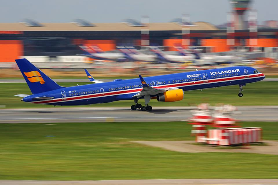 Departure of Icelandair Boeing 753 TF-ISX from Sheremetyevo, Moscow during World Cup 2018 on 17.06.18 // Source: Artem Anikeev