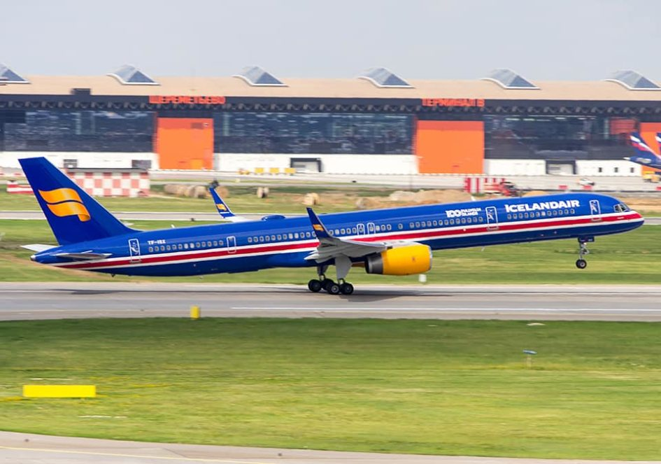 Departure of Icelandair Boeing 753 TF-ISX from Sheremetyevo, Moscow during World Cup 2018 on 17.06.18 // Source: Sergey Popkov