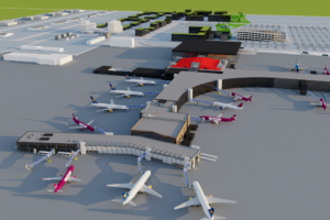 The plan of reconstruction of main terminal of Keflavik airport // Source: Isavia