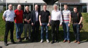 The staff of Flugmálafélag Íslands: Ágúst Guðmundsson, Óli Öder, Gylfi Árnason (Gjaldkeri), Friðbjörn Orri Ketilsson (Varaforseti), Matthías Sveinbjörnsson (Forseti), Kristján Sveinbjörnsson (Varaforseti), Kári Kárason (Ritar), Styrmir Ingi Bjarnason // Source: Flugmálafélag Íslands