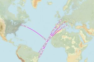 Strategic location of Cape Verde for trans-Atlantic flights between Europe and Americas // Source: Skyvector