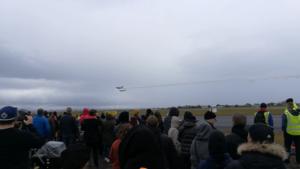 Flugklúbbur alþýðu Yakar Yak-52 (reg. TF-BCX) and Yak-18T (reg. TF-BCW) perform group demo flight // Source: Flugblogg