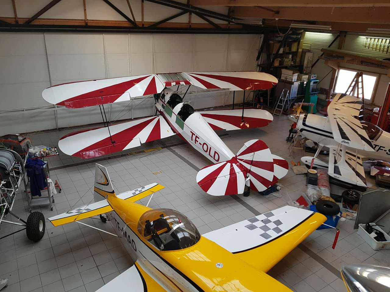 Renovated Stampe et Vertongen SV.4 TF-OLD in Mosfellsbær // Source: Sigurjon Valsson