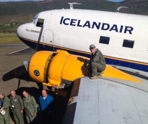 DC3 Þristavinir club and TF-NPK // Source: Flugsafn Íslands (Hörður Geirsson)