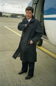 Hallgrimur Jónsson near Fokker F27 in Maastricht airport, The Netherlands, 1992 // Source: Hallgrimur Jónsson
