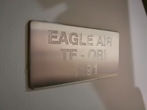 "The plate of ""Eagle Air"" Dornier 328 (reg. TF-ORI) // Source: Flugblogg"
