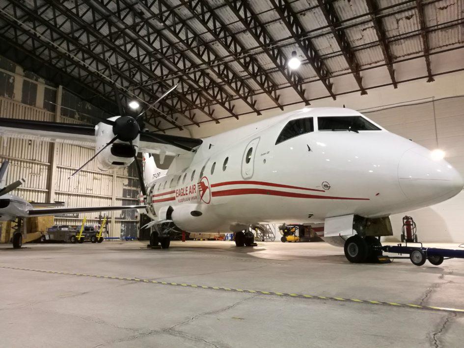 "The ""Eagle Air"" Dornier 328 (reg. TF-ORI) // Source: Flugblogg"