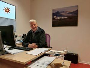 "The founder and CEO of ""Eagle Air"" Hörður Guðmundsson // Source: Flugblogg"