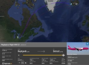 The last flight of WOW air was performed at the evening of 27.March // Source: Flightradar24