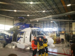 The crew of Icelandic Coast Guard Airbus H225LP (reg. TF-EIR) delivery flight: Icelandic coast guard aircraft engineer Sigurjón Sigurgeirsson, norwegian pilots Steinar Haugen and Frode Moi // Source: Flugblogg