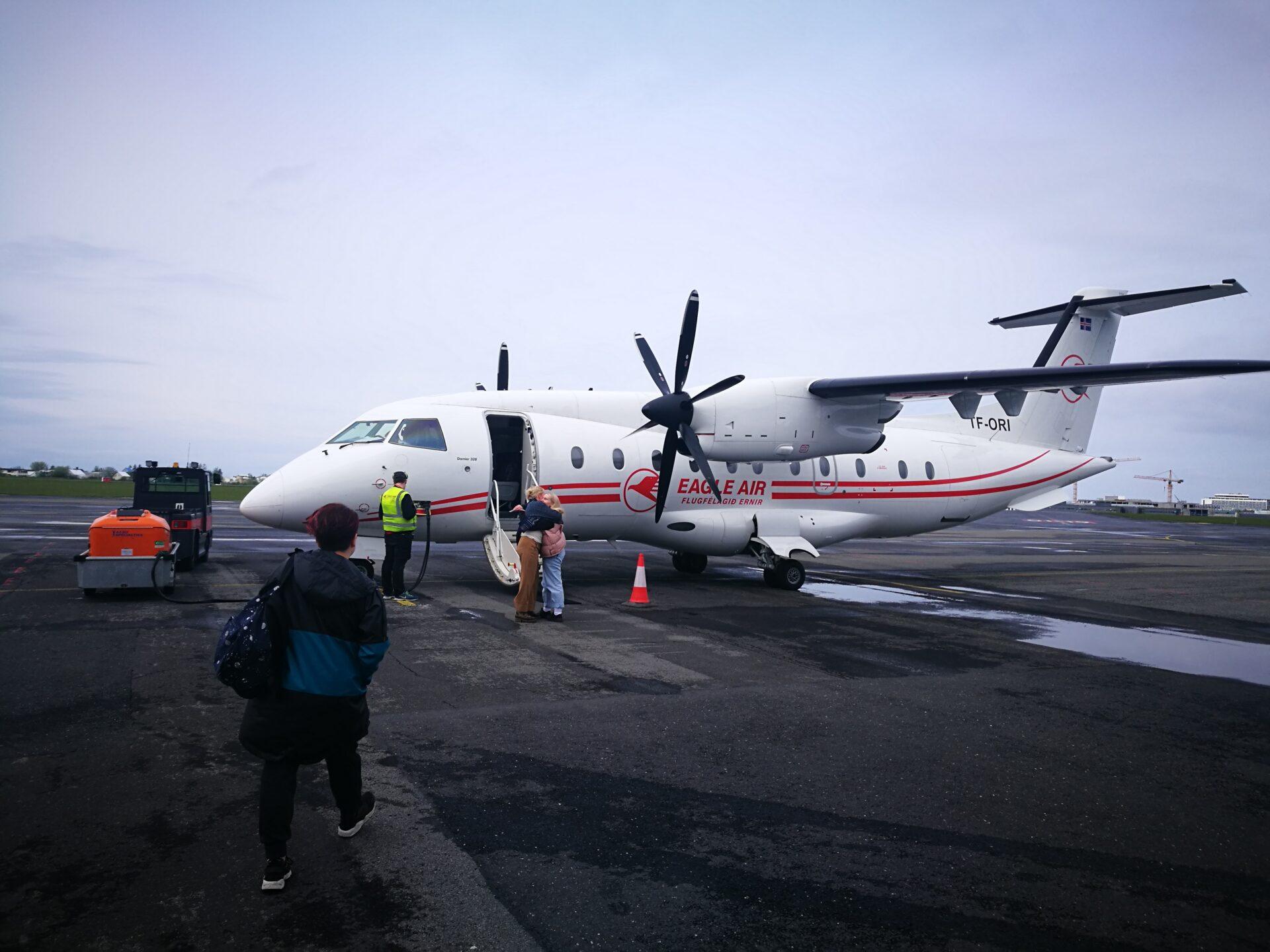 Eagle Air Dornier Do328 (reg. TF-ORI) in Reykjavik airport // Source: Flugblogg