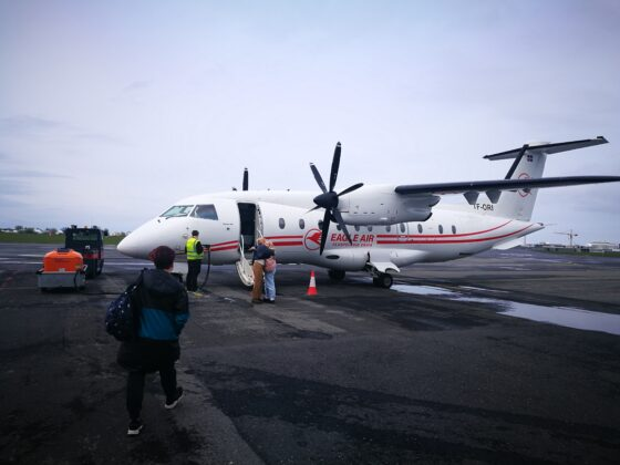 Eagle Air Dornier Do328 (reg. TF-ORI) in Reykjavik airport // Source: Flugblogg