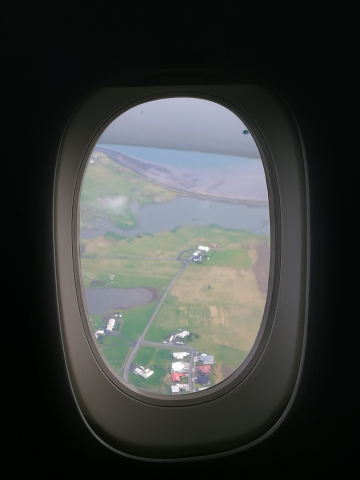 The view after take-off from Reykjavik