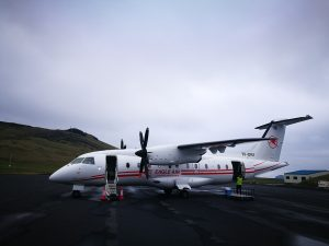 Eagle Air Dornier Do328 (reg. TF-ORI) in Vestmannaeyjar airport // Source: Flugblogg