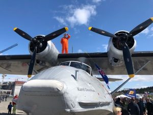 Pilot-in-command Rogier Leeflang is standing on PBY-5A Catalina PH-PBY during Reykjavik Airshow 2019 // Source: Mantea Tudor