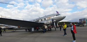 "D-Day Squadron DC-3 N8336C ""The spirit of Benovia"" in Reykjavik airport // Source: Halldór Sigurðsson"