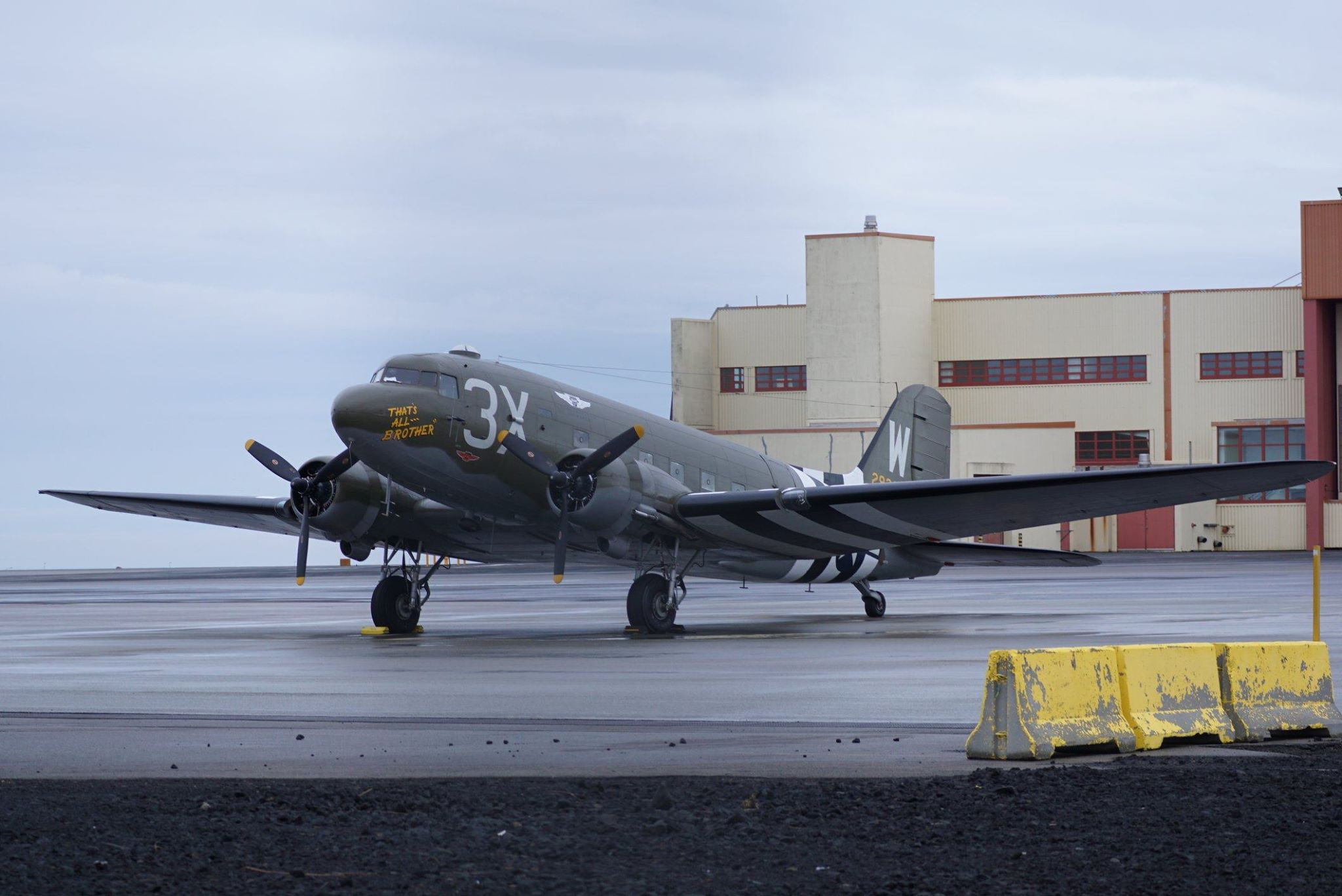 D-Day Squadron C-47 N47TB in Keflavík // Source: Markus Fürst