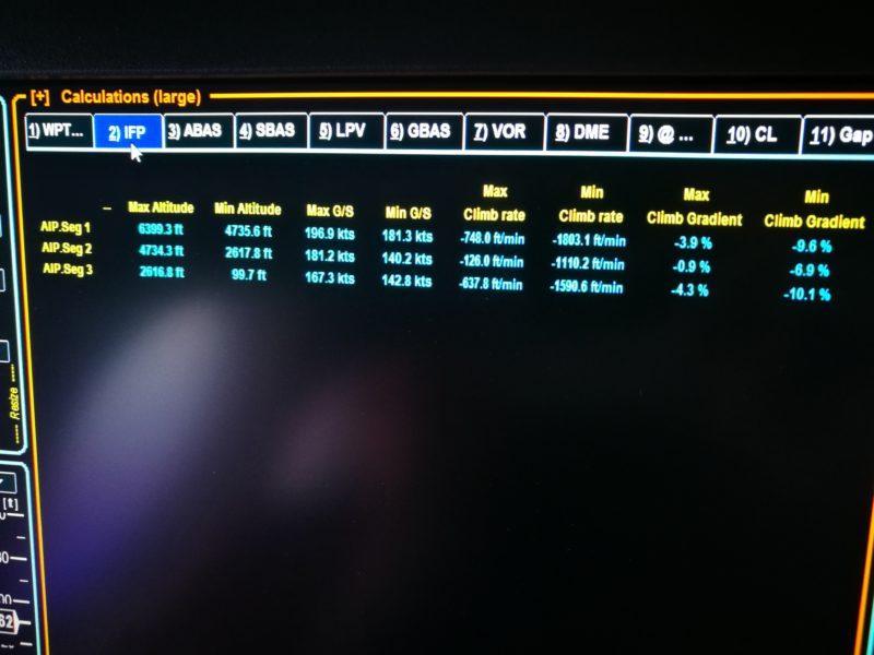 Navigation equipment data during calibration flight of Isavia Beechcraft Super King Air 200 TF-FMS // Source: Flugblogg