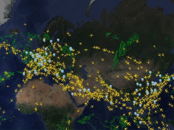 Traffic between Iceland and China // Source: Flightradar24.com