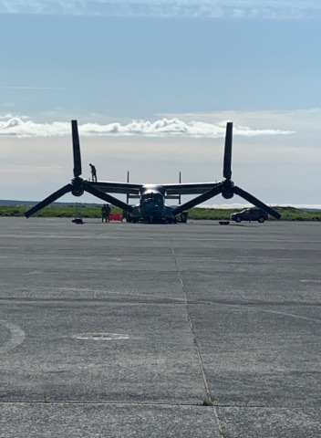 Bell/Boeing CV-22B Osprey in Keflavik (BIKF) during the visit of the US Vice-president Mike Pence // Source: Flugblogg's source