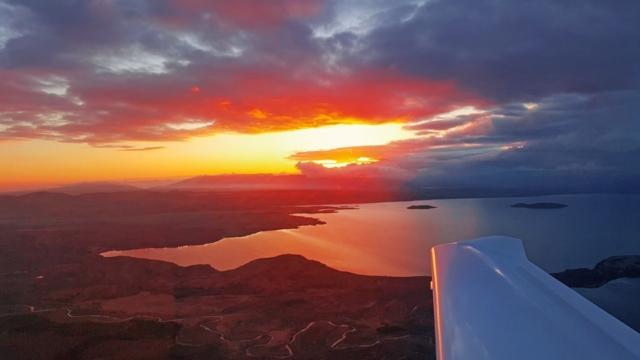 Great evening view to Þingvallavatn during GA flight // Source: Ingþór Ingólfsson