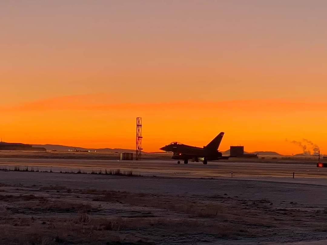 Royal Air Force Eurofighter Typhoon in Keflavik (BIKF) in November // Source: Sigurður Magnússon
