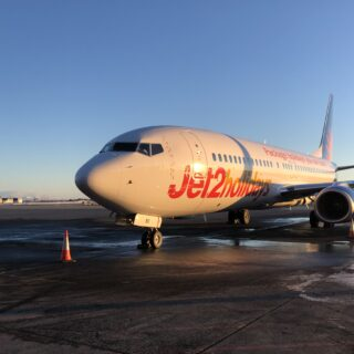 First arrival of Jet2.com in Keflavíkur in February 2019 // Source: Isavia