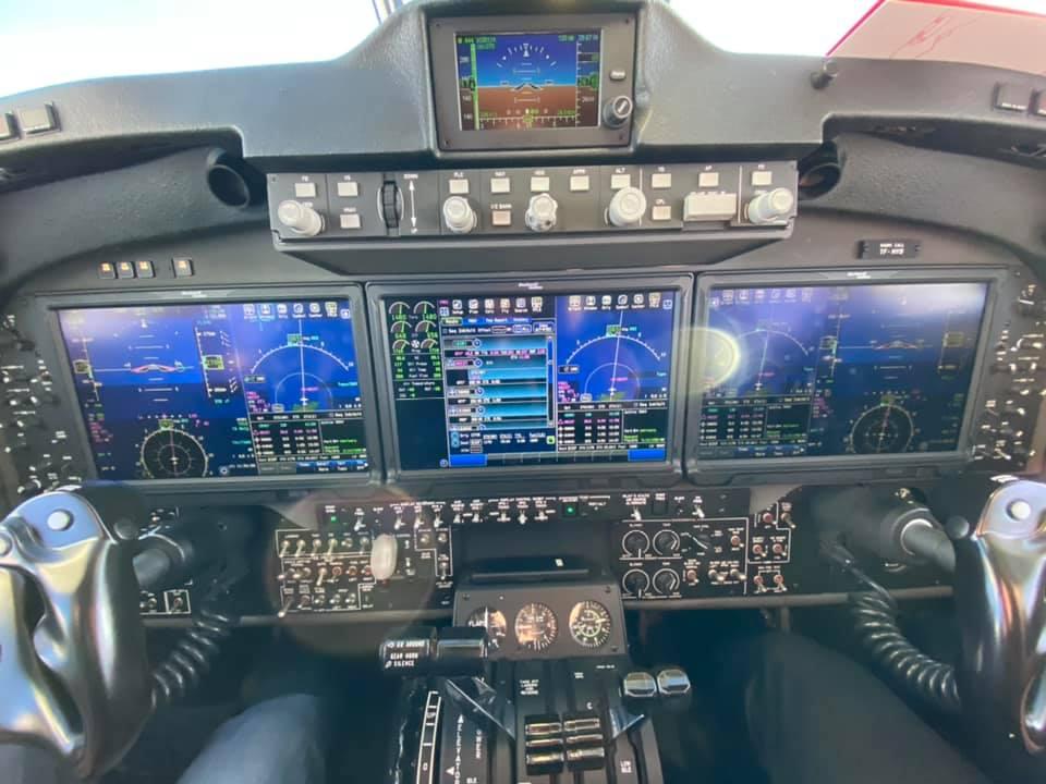 The cockpit of Mýflug Beechcraft B250 King Air reg. TF-MYB // Source: AK Aviation