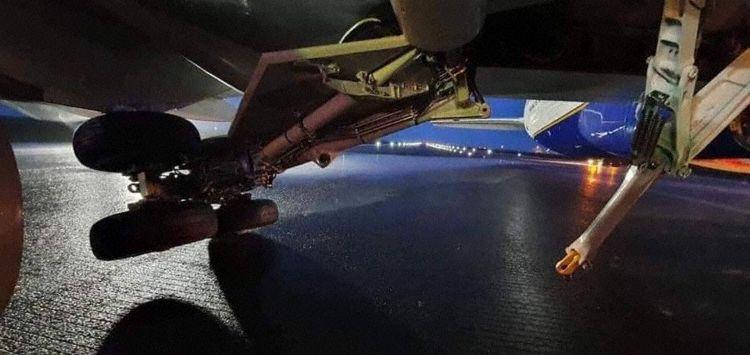 Icelandair's Boeing 757-200 reg. TF-FIA expreinced gear's collapse in Keflavik // Source: Avherald.com