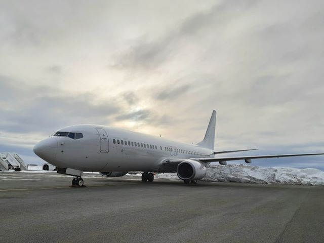 Boeing 737-800NG reg. TF-KEX (ex OM-KEX) leased by Icelandair in Keflavik // Source: Flugblogg's source