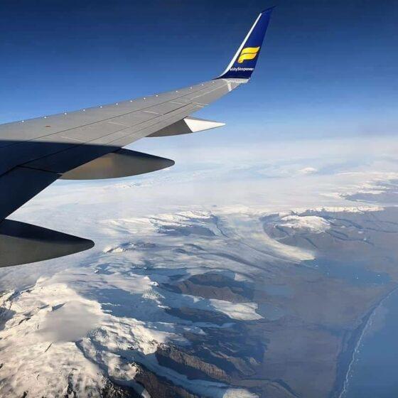 Öræfajökull view from Icelandair Boeing 757-200 Hekla Aurora reg. TF-FIU // Source: Hannes Valdi Stefánsson