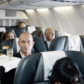 On board of Icelandair Boeing 757-200 // Source: Traveller.com.au