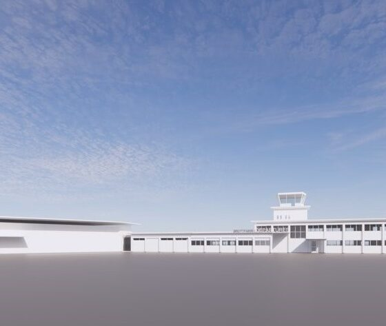 The concept view of the future terminal building in Akureyri airport // Source: Thorvaldur Ludvik Sigurjonsson