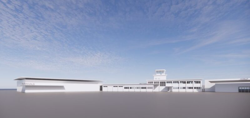 The concept view of the future terminal building in Akureyri airport // Source: Thorvaldur Ludvik Sigurjonsson