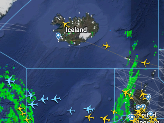 Air traffic near Iceland on 21.March 2020 // Source: Flightradar24