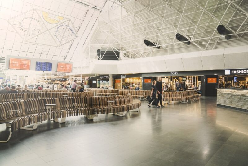 Inside Leif Erikson terminal in Keflavik airport // Source: Isavia